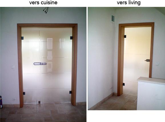 Porte cuisine vitre des placards de cuisine aux vitres for Porte wc salon