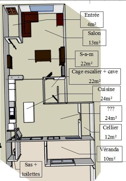 La cuisine meuble sera compltement refaite surement en fin for Plan cuisine 10m2
