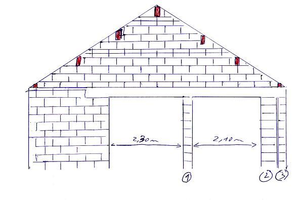 Construction Garage Parpaing Plan   Pdf Garage Construction Plans Photo