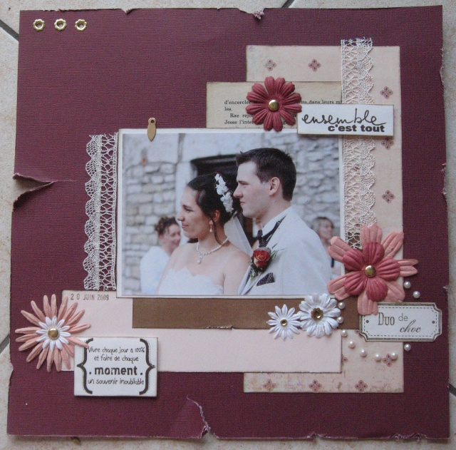 Scrapbooking pages mariage - Idee album scrapbooking ...