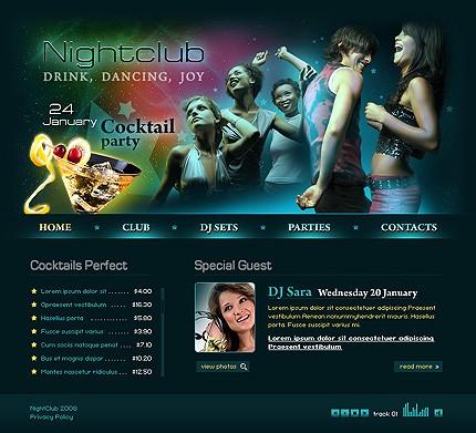 Free Web Scripts Templates Graphics: Night-club-fully-customizable ...