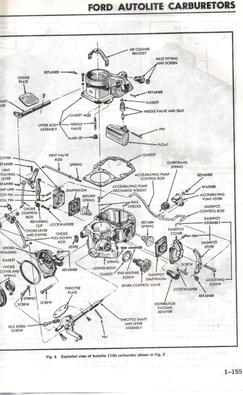search results carburetor diagram for ford autolite 1100