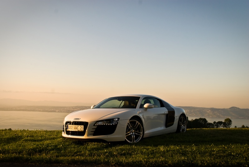 photo reportage audi r8 v8 blanche. Black Bedroom Furniture Sets. Home Design Ideas