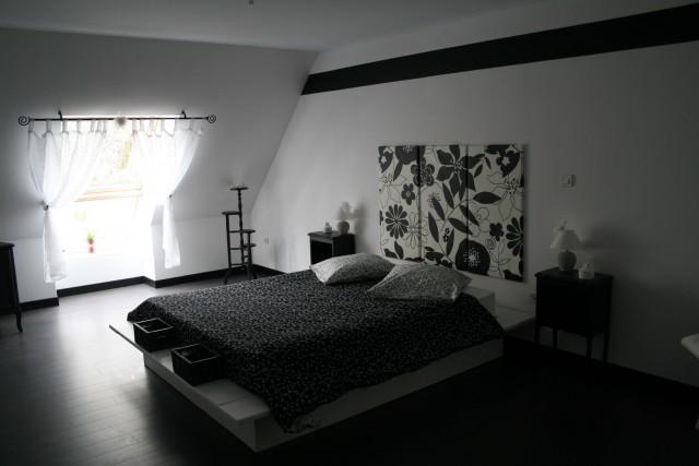 Souhaite changer sa chambre en noir et blanc - Deco chambre noir ...