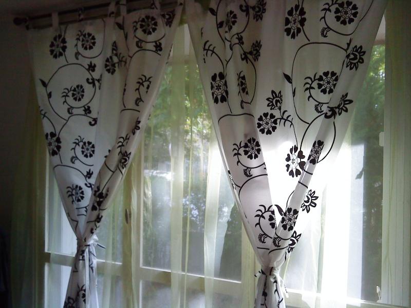 voil les doubles rideaux blanc avec les voilages anis pour lt - Rideaux Gris Voilage De Quel Couleur