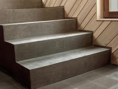 Escalier b ton cir - Beton cire sur escalier bois ...