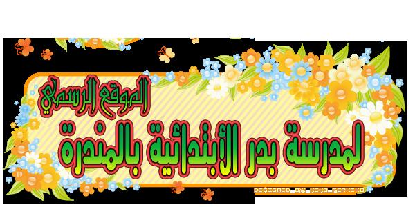 الموقع الرسمي لمدرسة بدر الأبتدائية بالمندرة