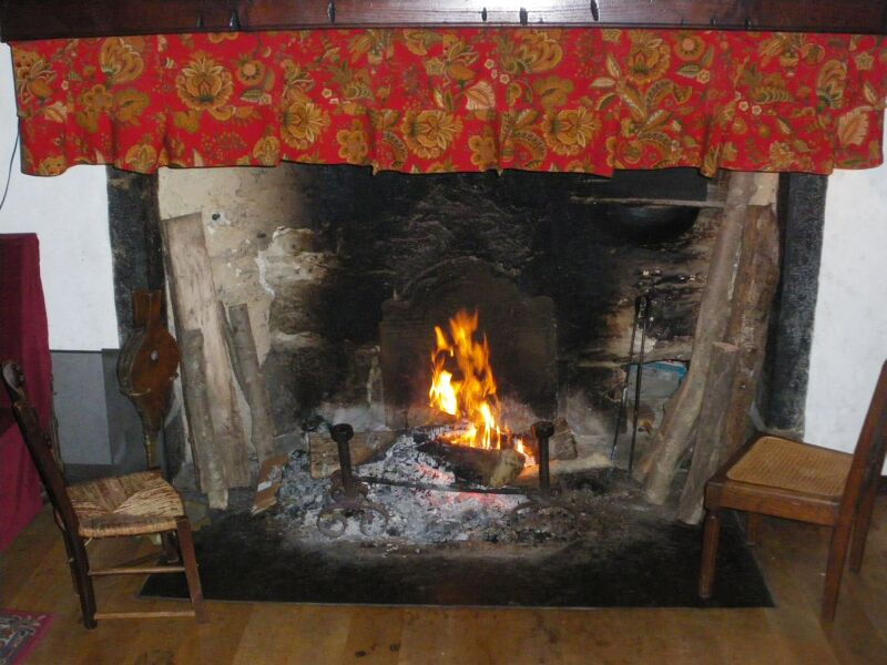 fireplace in the gite - hautes pyrenees