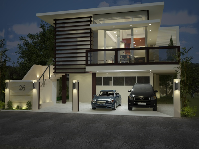 2 storey residential for Modern house gate designs philippines