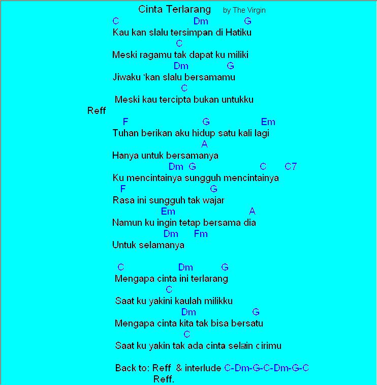 Chord Gitar Anji Cinta Dia: Chord Lagu Dewa Kangen Lirik Lagu Dewa
