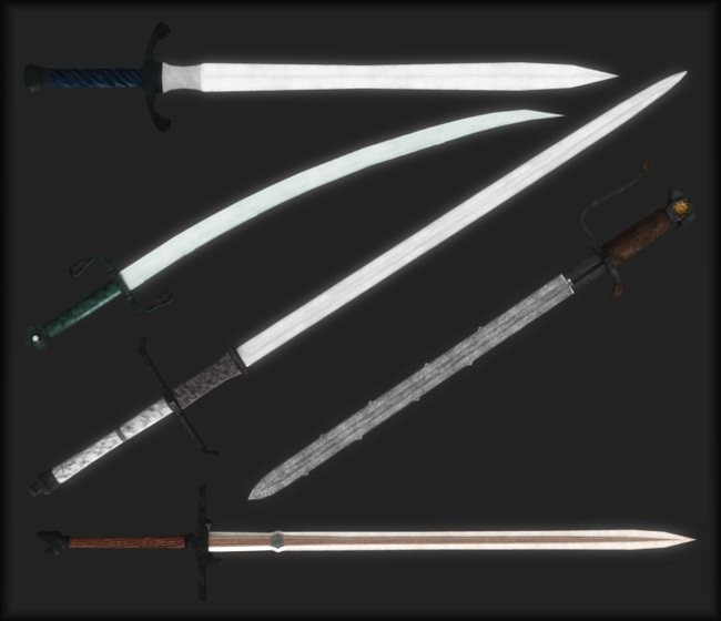Home weapons swords katana black steel