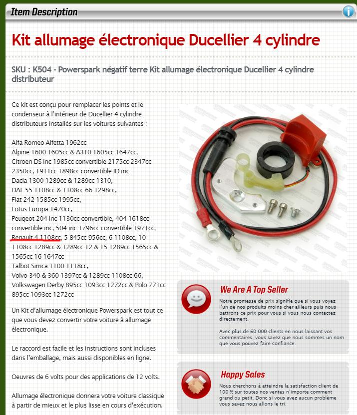 kit d 39 allumage lectronique electricit forum 4l. Black Bedroom Furniture Sets. Home Design Ideas