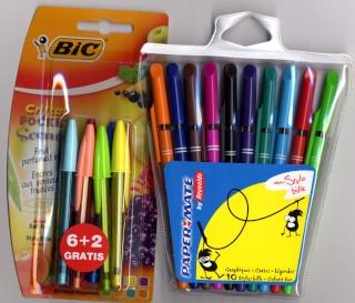 stylo bic multicolore
