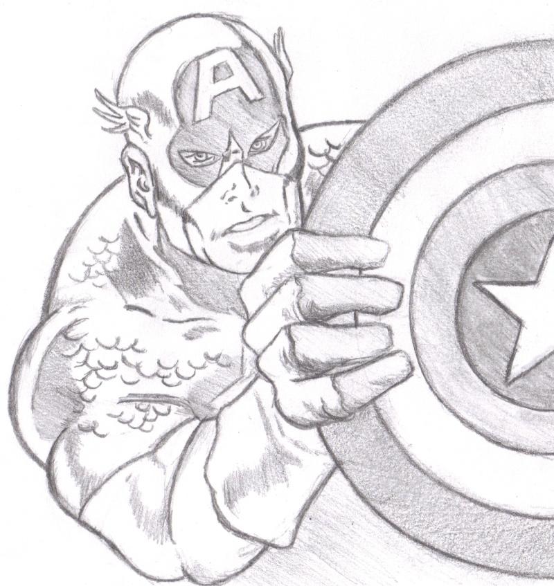 Colo captain america - Dessin captain america ...